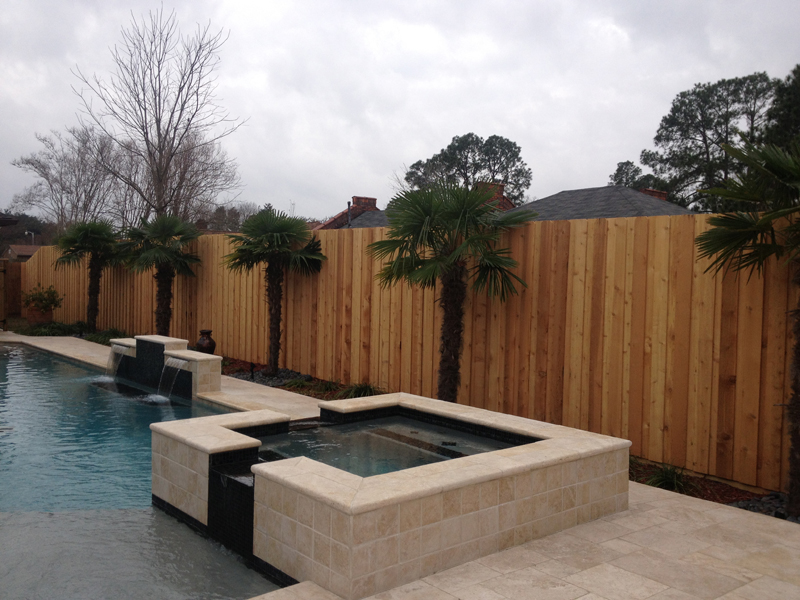 Wood Fencing Privacy Pool Garden Prairieville La