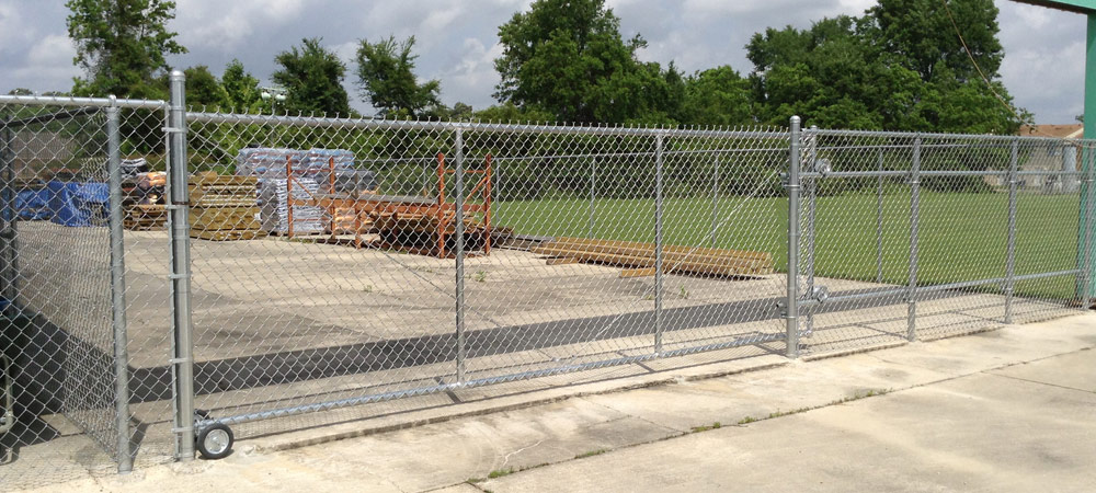 Chain link fencing warehouse industrial playgrounds